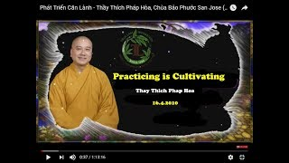 Practicing is Cultivating - Thay Thich Phap Hoa (16. 4. 2010)