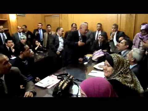 مناقشات اعضاء لجنة الحريات بالنقابة العامة للمحامين خلال الاجتماع 10 ديسمبر