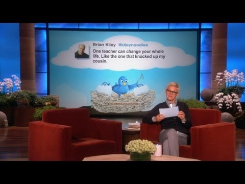 TheEllenShow - Ellen loves Twitter, and she loves her tweeters, too! Check out these hilarious tweets she found and wanted to share with you! Follow our weekly tweeters rig...