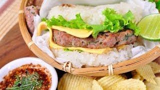 Thai Food - Thailand Spicy Burger  (Burgur E - San)