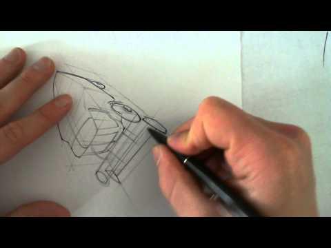 Skizzieren mit Hilfskonstruktion: Mähdrescher