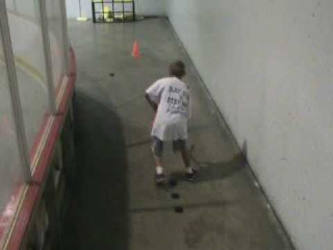 Hockey drills done in a corner of  a Hockey Arena  Part 2