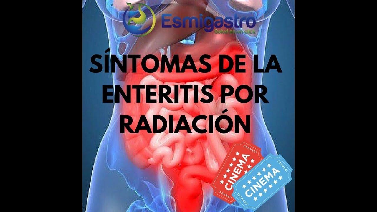 Síntoma de la enteritis por radiación