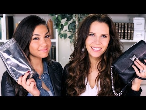 Touchups - What to pack in your purse to refresh your makeup on the go, so you feel cute ALL day! Check out our Q&A video here https://www.youtube.com/watch?v=aLzObYpna...