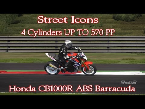 RIDE 2 - 4 Cylinders UP TO 570 PP  - Honda CB1000R ABS Barracuda