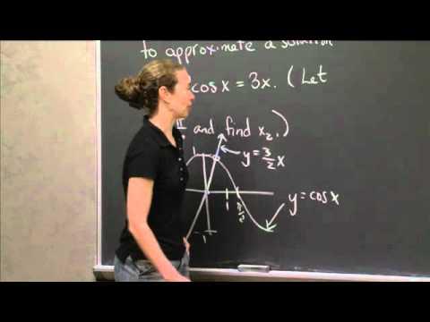Using Newton's Method   MIT 18.01SC Single Variable Calculus, Fall 2010