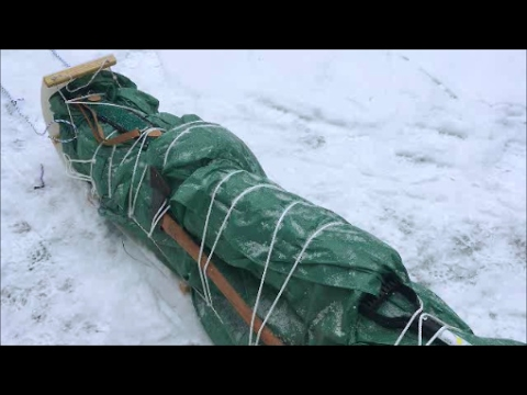 Solo Winter Camping And Bushcraft Part 1: Hike And Artic Tent
