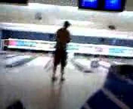 Girl Falls Bowling