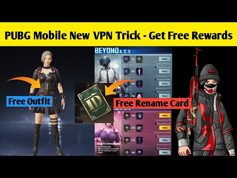 Get Free Rename Card And Free Outfit In Pubg Mobile | Pubg Mobile New VPN Trick