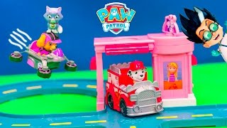 We love Nickelodeon Paw Patrol! See all of our Surprise videos   http://www.youtube.com/playlist?list=PLoLQ9unpi4OEEM3rUVjLGa0pUaXQvW3Wd Please Subscribe Here http://www.youtube.com/user/TheEngineeringFamily?sub_confirmation=1Check out our second channel - https://www.youtube.com/channel/UCPC55dCdzIjNJd421LbK3uwIn this Nickelodeon Paw Patrol YouTube toy video check out Marshall and Kitty Rescue Roll Patrol with the train! Marshall is ready to serve and protect by saving kitty...but wait...what's Romeo from Disney PJ Masks planning? He's trying to STEAL kitty right out from under Marshall! Can the other members of Paw Patrol help Marshall save the day? Check out some of these other fun TheEngineeringFamily Treasure HuntsDISNEY SURPRISE TREASURE Secret Surprise Treasure with the Assistant a Disney World Video Surprise   https://youtu.be/a3c5pAJ-o-kPJ MASKS Disney Search For PJ Masks with Blaze and Paw Patrol Video  Adventure   https://youtu.be/4mV2sNE14PgAssistant Slip N Slide Bounce House Carnival Challenge Surprise Toys Video  https://youtu.be/HKE2lCvb6fMASSISTANT TREASURE HUNT Paw Patrol Look Out Hunt + toysZootopia + Lion Guard Toys Surprise Video  https://youtu.be/ECgPK35Gw3wOr these Playlists!  Funny Kids Videos     https://www.youtube.com/playlist?list=PLoLQ9unpi4OHXhaMeWT2y6P27pbuzKbckFeaturing the Assistant   https://www.youtube.com/playlist?list=PLoLQ9unpi4OGfgjxJsWnO878aLXo2TgXHAbout The Engineering FamilyWe are The Engineering Family, a family of educators working to show you how to make learning fun and engaging through toy unboxings, toy reviews, and original series designed to insight imaginative play within your family. With Mr. Engineer as an experienced engineer with a love of exploring new things, Mrs. Engineer an award winning teacher with a math and counseling focus, and their daughter The Assistant you can think of The Engineering channel as your imagination station. You can think of The Engineering Family channel as a Funbrain meets YouTube. This family is taking some of the coolest toys like Paw Patrol, Shimmer and Shine, Scooby Doo, PJ Masks, Doc Mcstuffins, and plenty of fun Real Life live action videos that help teach children valuable STEM content. As always... TheEngineeringFamily only features 100% suitable family fun entertainment.