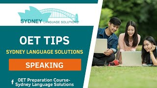 Video OET Speaking Tips (Illness) MP3, 3GP, MP4, WEBM, AVI, FLV Agustus 2018