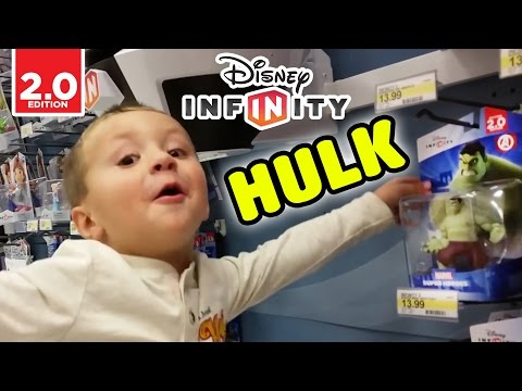 2.0 - Chase and Dad head to Target to get HULK the last Wave 1 Character for Disney Infinity and also a Mystery Minis haha, that's what Chase calls Power Discs, we got a RARE one opening our very...