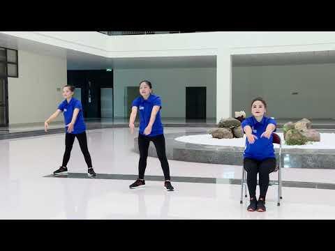 Bài tập thể dục giữa giờ phục vụ Lễ phát động Chương trình Sức khỏe Việt Nam