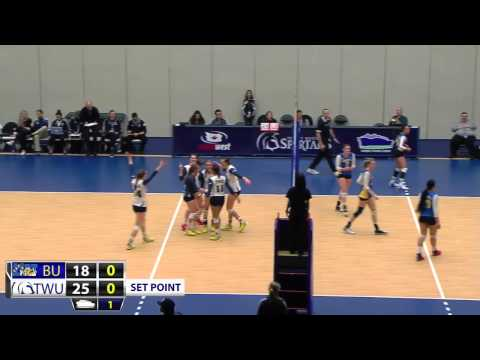 2015-02-12 TWU Women's Volleyball Highlights vs Brandon