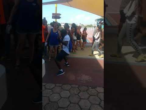 Having fun in Belize City