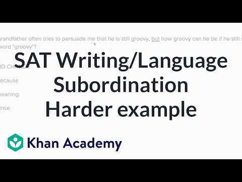 Writing Subordination And Coordination Harder Example Video