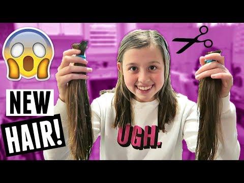 HUGE TEEN HAIR CUT! NEW HAIRCUTS FOR EVERYONE! FAMILY VLOG (видео)