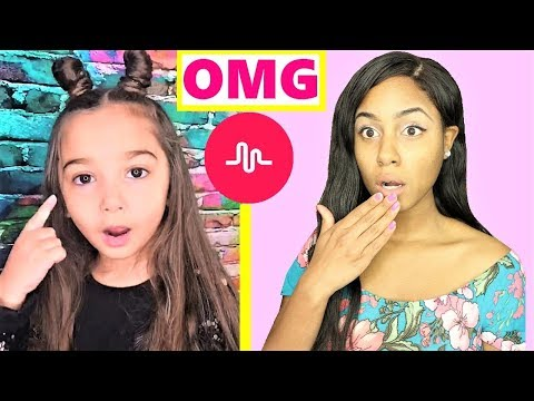 REACTING TO MY KID SUBSCRIBERS MUSICAL.LY VIDEOS (видео)