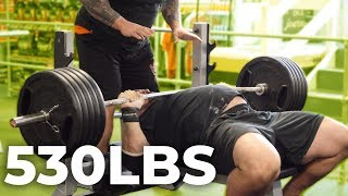 530LB BENCH PRESS WITH EDDIE HALL AND NICK BEST
