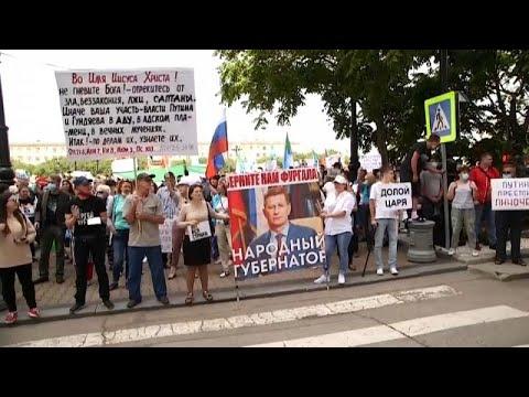 Καθημερινά στους δρόμους κατά του Κρεμλίνου στην ρωσική Άπω Ανατολή…
