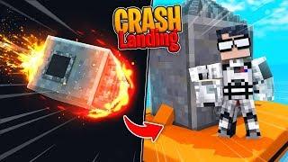 Crazy Minecraft - CRASH LANDING A SPACE SHIP! (Space Mod)