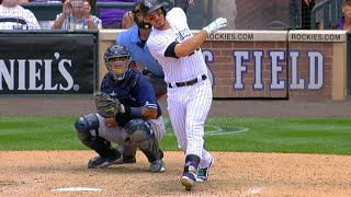 Nolan Arenado crushes his third home run of the game, a three-run homer to left, to extend the Rockies' lead Check out ...