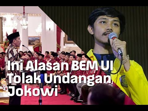 Ini Alasan BEM UI Tolak Undangan Jokowi