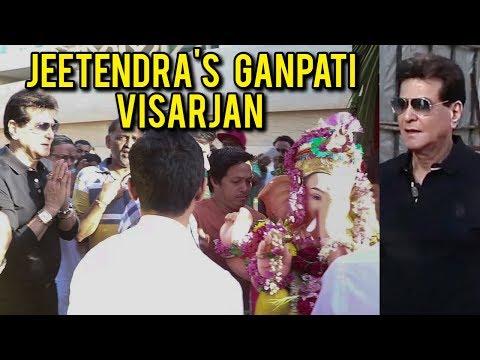 Jeetendra And Tusshar Kapoor Ganpati Visarjan | Ga