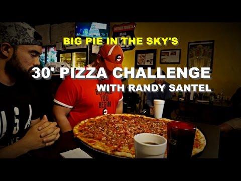 "MAN VS FOOD | 30"" BIG PIE IN THE SKY PIZZA CHALLENGE | WITH RANDY SANTEL"
