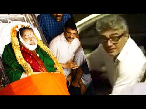 Ajith flew from bulgaria to pay homage to Jayalalithaa & Cho | Respect!
