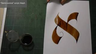 Demonstrating writing the letter Aleph in 6 Hebrew Calligraphy styles. Though I've written a book on the subject, thought it might be helpful to actually sho...