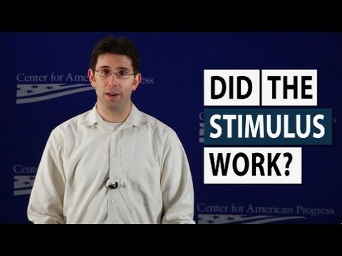 Stimulus - Did the stimulus work? A new video answers that question by looking at three broad, but important, indicators for the American economy. All three were in bad...