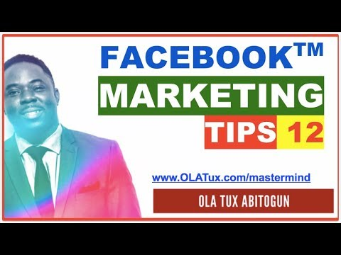 Facebook Marketing Tips 12 - How to create a Facebook marketing strategy