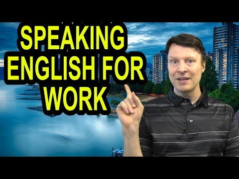 Speaking English for work | practice conversations | Learn English with Steve