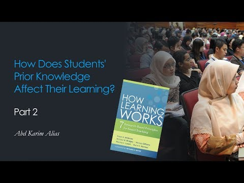 How Does Students' Prior Knowledge Affect Their Learning - Part 1B