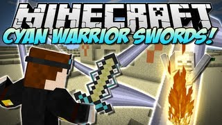 Minecraft | CYAN WARRIOR SWORDS! (Insane NEW Swords!) | Mod Showcase [1.5.2]