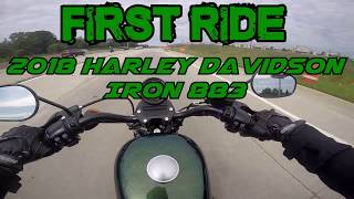 8. First Ride - 2018 Harley Iron 883