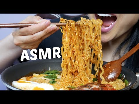 ASMR Lobster Spicy Noodles + Cheesy Korean Rice Cake (Cooking + EATING SOUNDS) NO TALKING | SAS-ASMR