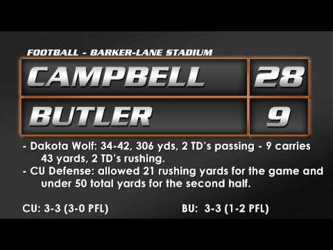 Football vs. Butler - 10/11/14