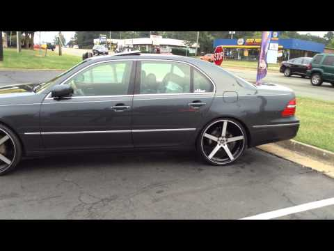 2004 LEXUS LS430 SITTING ON 22'' VERSANTE RIMS AND 235/30R22 LEXANI TIRES AT RIMTYME  RICHMOND VA