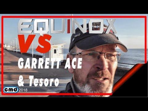 Garrett Vs Minelab Equinox vs Tesoro metal detecting beach