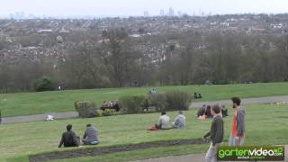Der Blick vom Alexandra Palace in London