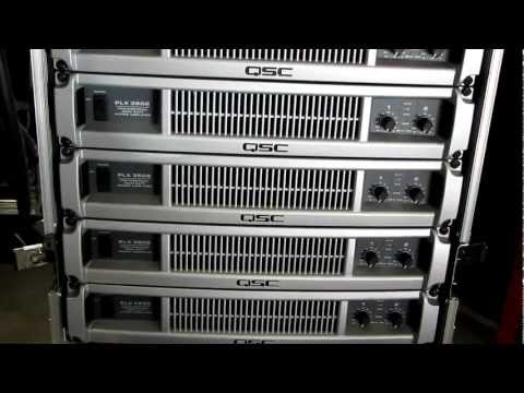Stage Left Audio - equipment overview - QSC amplifiers