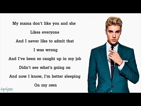 Justin Bieber - Love Yourself (Lyrics)