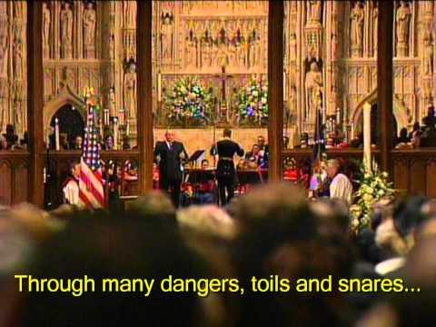 "Reagan Funeral ""Amazing Grace"" Ronan Tynan- HD with Subtitles"