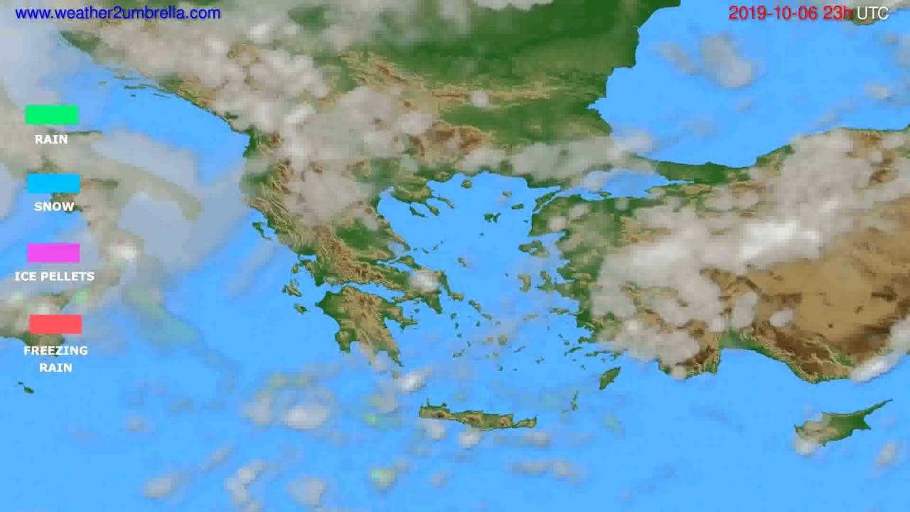 Precipitation forecast Greece // modelrun: 12h UTC 2019-10-03
