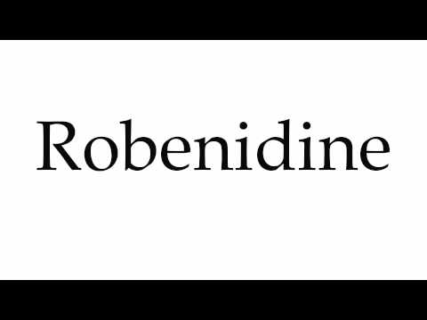 How to Pronounce Robenidine