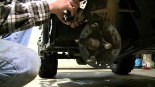 6. Polaris Ranger 500 Replacing Brake Pads (Part 1 of 3)