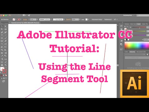 Adobe Illustrator CC Tutorial | Basics | Using The Line Segment Tool