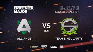 Team Singularity vs Alliance, EPICENTER Major 2019 EU Closed Quals , bo1 [Mila]